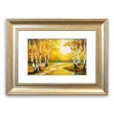 painting frames silver birch