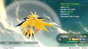 Pokemon Let's GO Shiny 6 IV Articuno, Moltres & Zapdos [Fast Delivery]