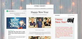 ways to send a happy new year email to clients email design