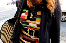 SF Street Style: Color Block Dress + Adorable iPhone Case - 7x7 Bay Area