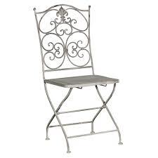 grey wash metal folding garden chair