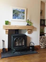 solid oak beam corbels fireplace mantle