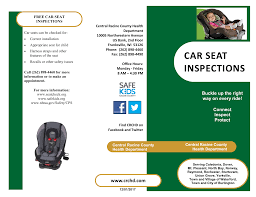 car seat inspections central racine