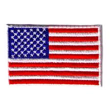 american flag iron on patriotic patch