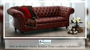 how to remove sticky residue from