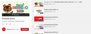 Nintendo Direct Youtube Playlist ...