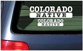 Amazon Com Colorado Native White Vinyl Sticker Window Decal Automotive