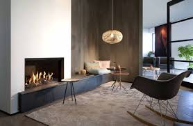 gas fireplace built in contemporary