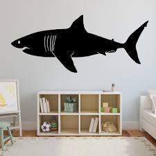 Great White Shark Wall Decal Large Shark Home Decor Kids Room Huge Shark Wall Wall Decal