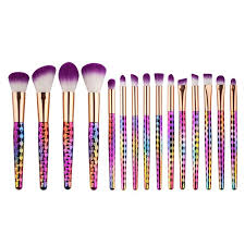15 pcs professional makeup brushes set