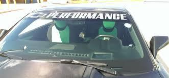 Chevrolet Bowtie Performance Windshield Vinyl Decal Banner Sticker