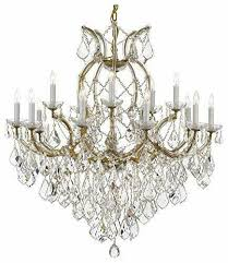 16 light diamond cut crystal goldish