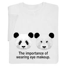 wearing eye makeup