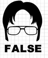 Dwight Schrute False Decal The Office Sticker The Office Stickers The Office Show Pumpkin Carving Templates