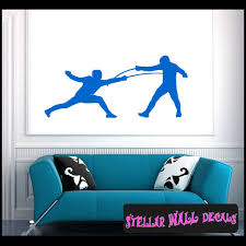 Fencing Ns001 Wall Decal Wall Sticker Wall Mural Swd