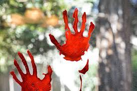 Bloody Handprint Window Clings Hey Let S Make Stuff