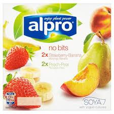 alpro soya yogurt no bits 4 x 125g