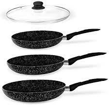 stone magic marble coated frying pan s