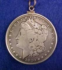 morgan silver dollar pendant necklace