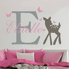 Yoyoyu Removable Custom Name Elephant Butterfly Wall Decal For Kid Baby Room Art Mural Vinyl Wall Sticker Girls Room Decor Y 73 Butterfly Wall Decals Name Wall Decalswall Decals Aliexpress