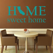 State Of California Silhouette Home Sweet Home Vinyl Decor Wall Decal Customvinyldecor Com