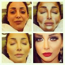 makeup for contouring and highlighting