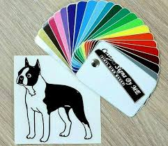 Auto Parts And Vehicles Boston Terrier Car Window Decal Personalized Vinyl Sticker Laptop Wall Dog Car Truck Graphics Decals