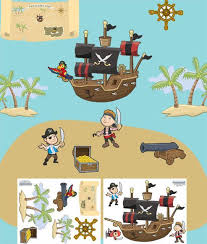 Pirate Wall Decals For Boys Room Walls