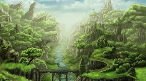 painting landscape trees desktop pc