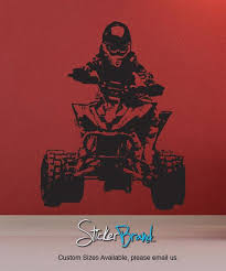 Racing Quad Bike Wall Decal 4 Wheeler Xtreme Sports Jh241 Stickerbrand