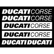 Piktograffer Ducati Corse Sticker Motorcycle Xl Decals Racing Team Car Glass Stencil Stripe