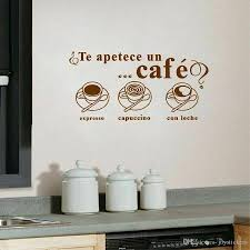 Spanish Coffee Wall Sticker For Dining Room Art Wall Decal For Home Room Decor Vinyl Wall Stickers For Cafe Waterproof Wall Decals Home Decor Wall Decals Kids From Joystickers 9 77 Dhgate Com