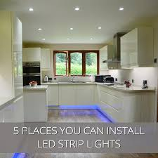 places you can install led strip lights