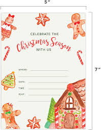 Amazon Com Tarjetas De Invitacion Para Fiestas De Navidad Color
