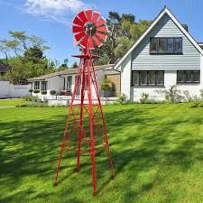 decorative outdoor garden yard windmill