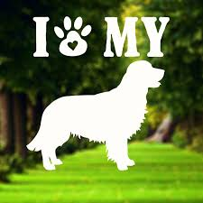 I Love My Dog Decal Rescue Dog Dog Vinyl Decal Car Window Decal Lapt Bloomandanchor