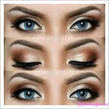cute makeup styles for brown eyes cat