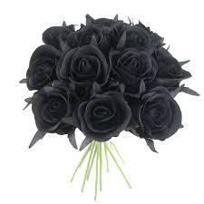 25 سنتيمتر الحرير الأسود باقة الورد باقة زهرة اصطناعية 12