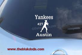 Baseball Softball Custom Name Vinyl Sticker Car Decal Blakdogs Vinyl Designs