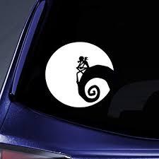 Jack Nightmare Before Christmas Moon Car Window Vinyl Decal Sticker 5 Wide Amazon In Home Kitchen