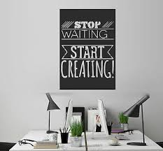 Stop Waiting Inspiration Quotes Wall Stickers Art Mural Vinyl Decal Office Decor Ebay