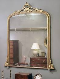 antique gilt overmantel mirror