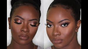 dark skin copper eyes lip