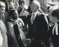 Press Photo Bishop Abel Muzorewa - KSB04799 | eBay