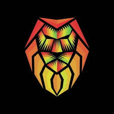 rasta lion abstract logo template for