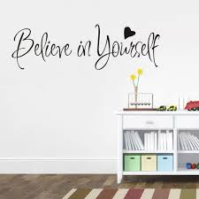 Vova Believe In Yourself Wall Stickers Inspirational Home Decor Creative Inspiring Quote Wall Decal Adesivo De Parede Vinyl Decals