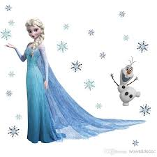 Frozen Wall Stickers For Girls Bedroom With Elsa Anna And Olaf