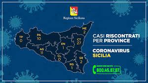 CORONAVIRUS IN SICILIA, I CASI PER OGNI PROVINCIA: AGRIGENTO AL ...