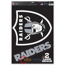 Nfl Oakland Raiders Window Clings Decal Sheet 11x17 Big Logo At Cutesense Com