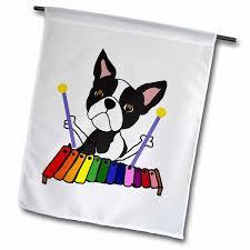 3drose funny cute boston terrier dog